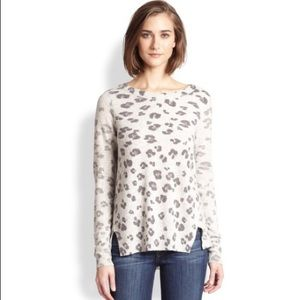 Rebecca Taylor Leopard Sweater NWOT size M